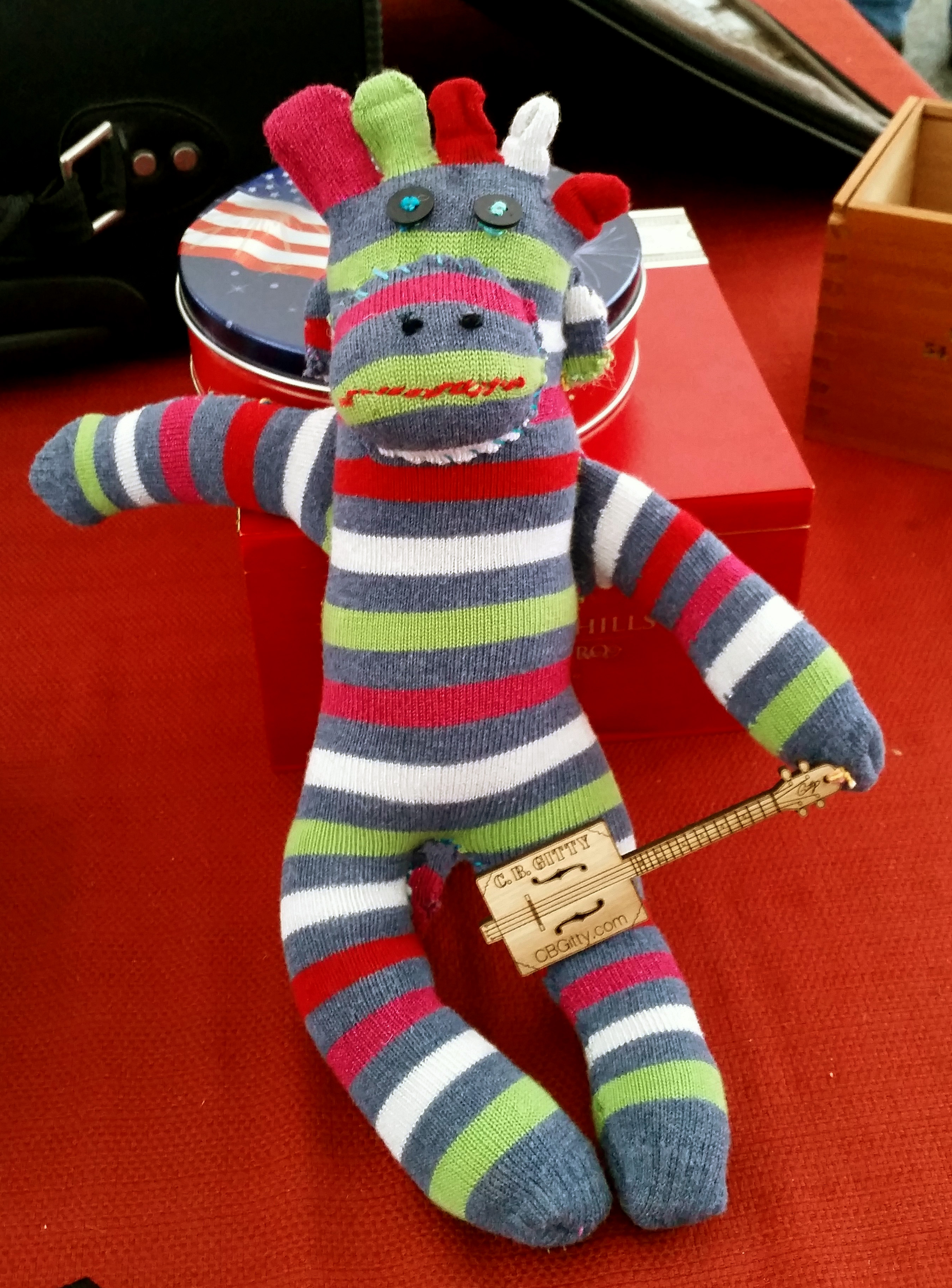 Sock Monkey with CBG