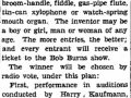A Homemade Instruments Contest in Kansas City - September 1936