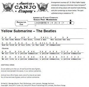Canjo Tablature