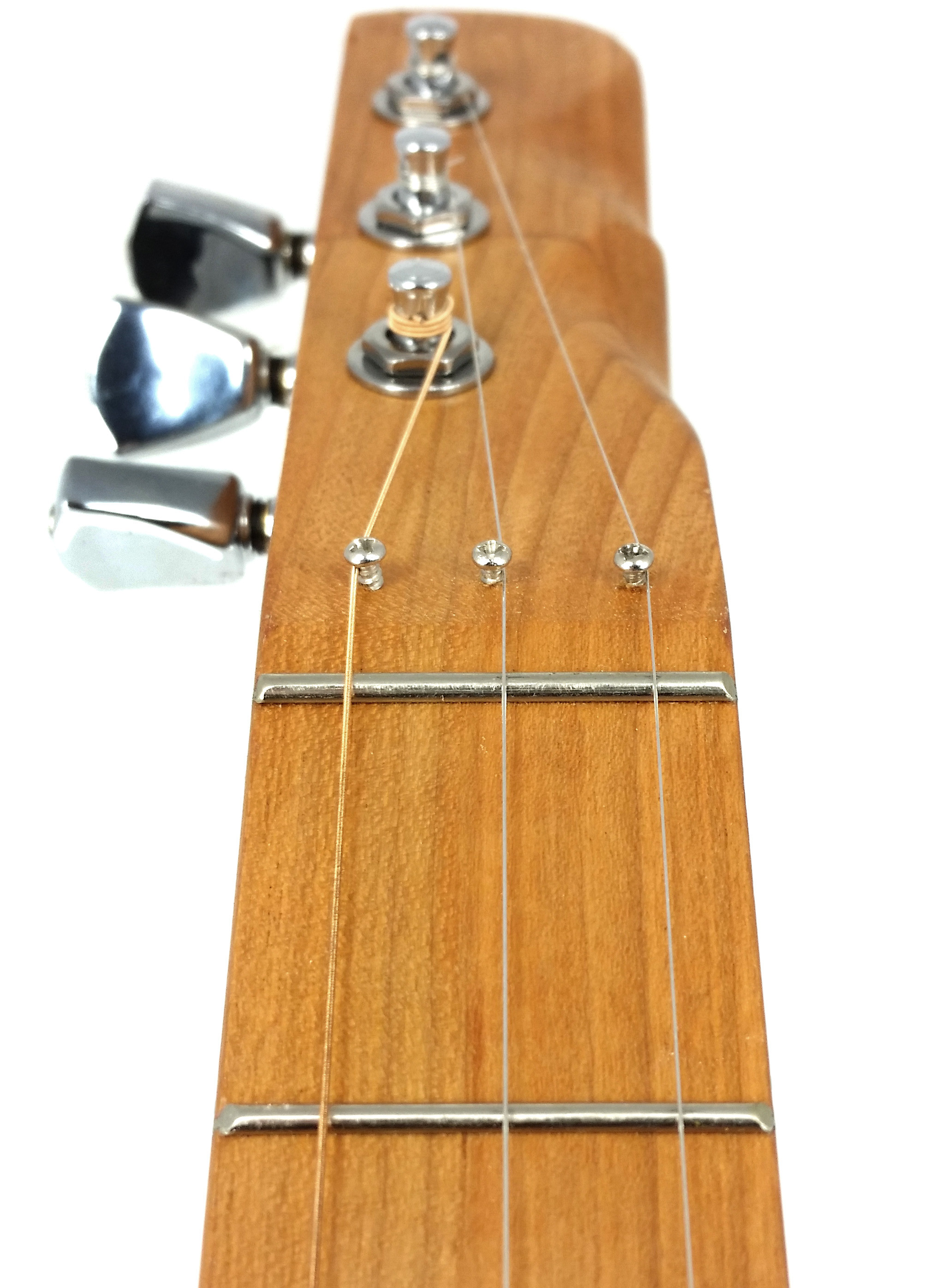 Zero Frets How And Why To Use Them On Cigar Box Guitars Wiring A Single Two Wire Humbucker Nation Here Is Another Angle Of Fret Installed Guitar This