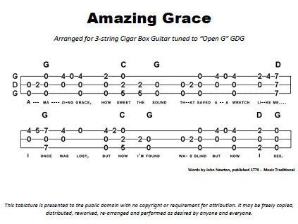 Amazing Grace with Chords Tablature PDF | The How-To Repository for ...