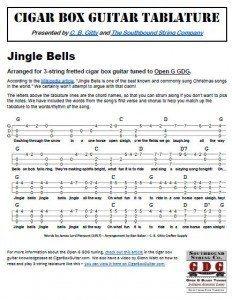 Jingle Bells Cigar Box Guitar Tablature PDF
