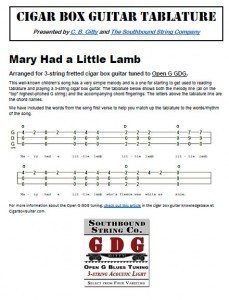 Click This Link Or The Image Below To View Printable PDF Mary Had A Little Lamb Tablature
