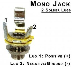 stereo guitar jack wiring wiring mono and stereo jacks for cigar box guitars, amps ... fender strat guitar jack wiring diagram