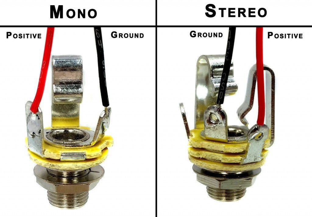 wiring mono and stereo jacks for cigar box guitars, amps ... 4 conductor jack acoustic wiring 4 conductor pickup wiring diagrams