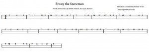 Frosty the Snowman Cigar Box Guitar Tablature PDF