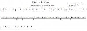 Frosty the Snowman Cigar Box Guitar Tablature PDF