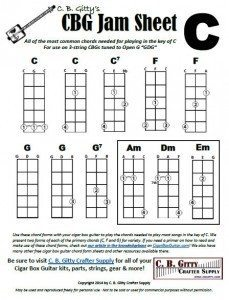 Jamming Guide for 3-string Cigar Box Guitars - Key of C