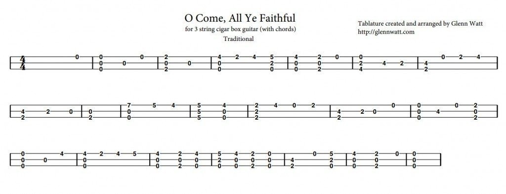 Mandolin u00bb Mandolin Tabs O Come All Ye Faithful - Music Sheets, Tablature, Chords and Lyrics