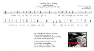 Red River Valley - DOUBLE STOP HARMONY Version. Click the image above to view the printable sheet.