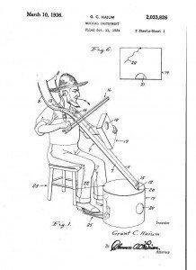 Pitchfork Instrument Patent Screenshot