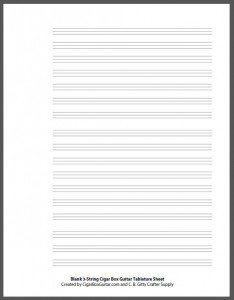 Blank 3-string Tab Sheet