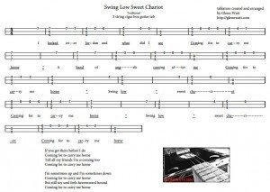 Swing Low Sweet Chariot 3 String Open G Gdg Tablature For Cigar