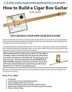 How to Build a 3-string Cigar Box Guitar