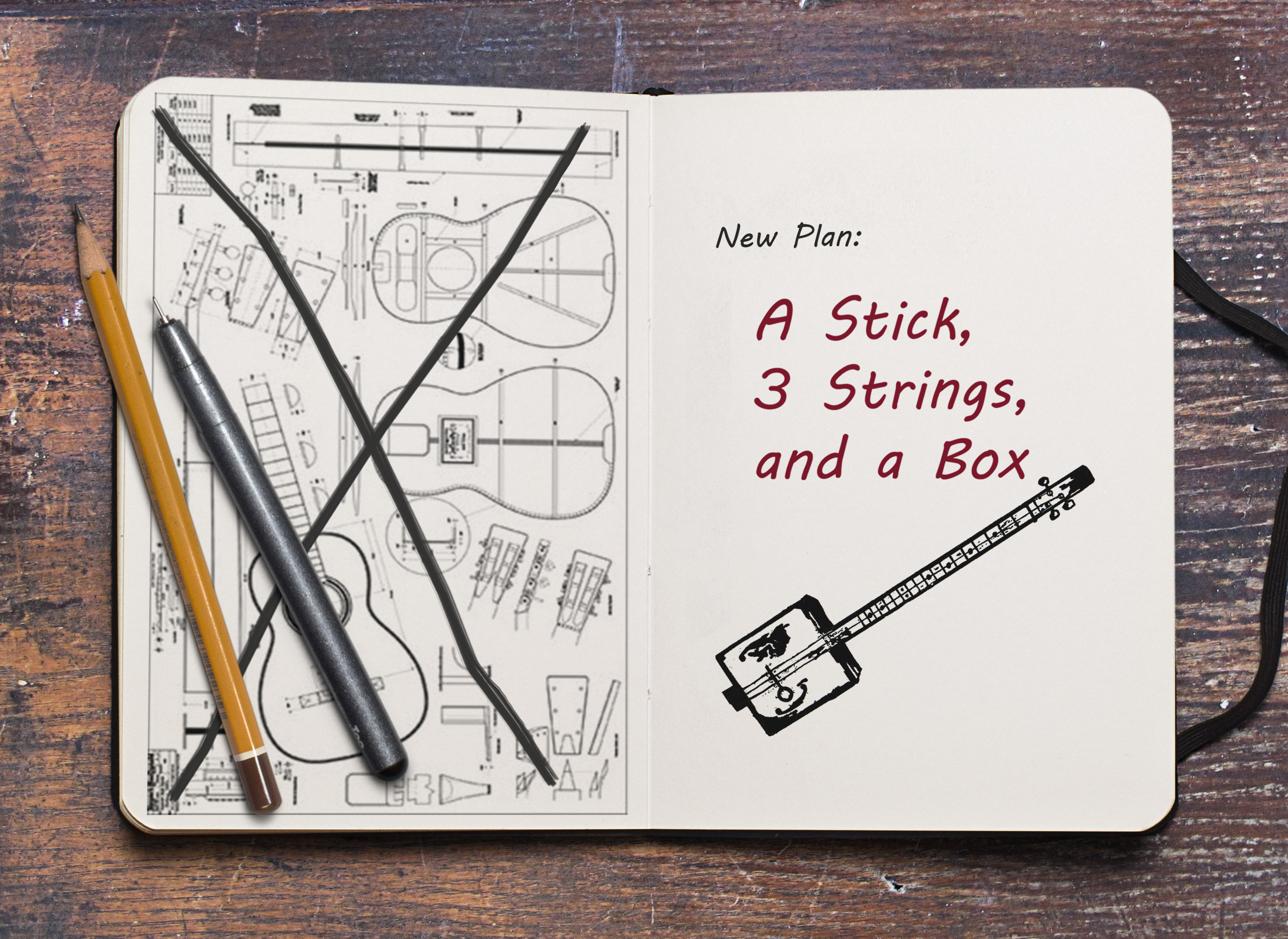 Cigar Box Guitar Sketchbook