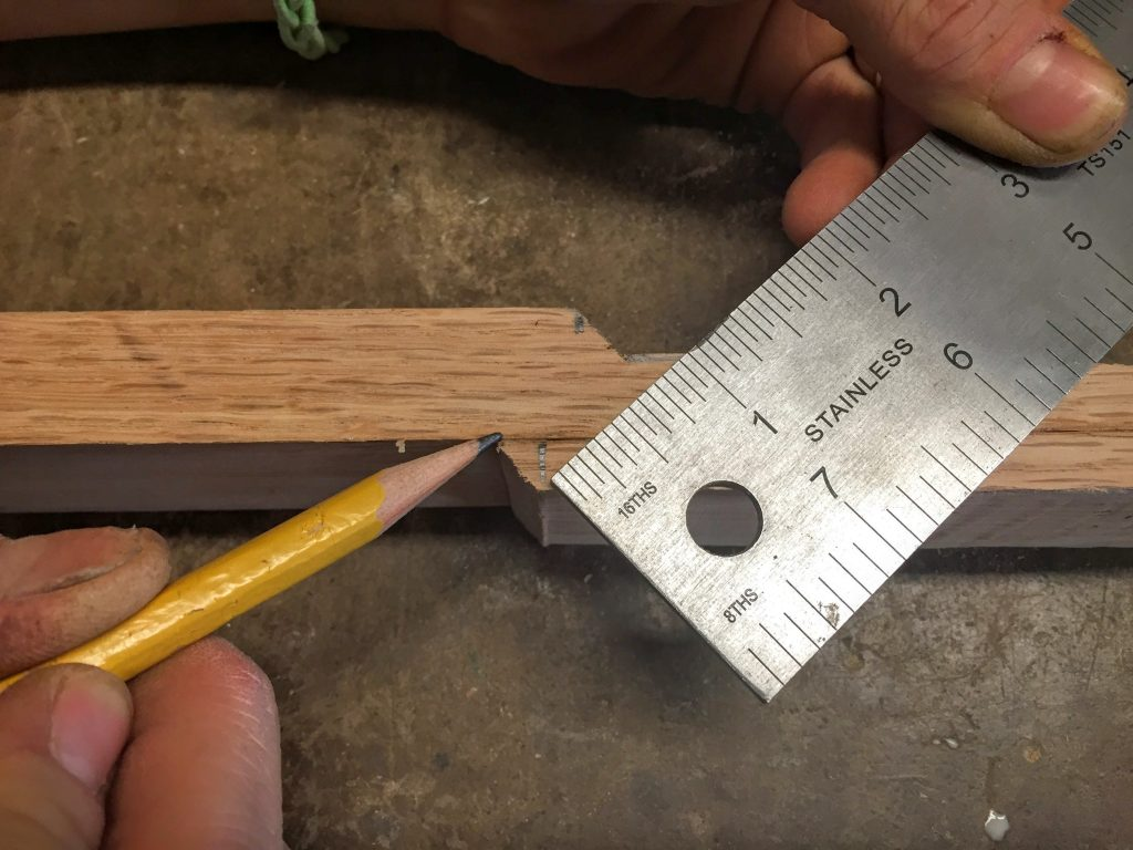 15 Measure to maintain width at straight headstock joint