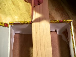 mark the front inside edge of the cigar box on the neck