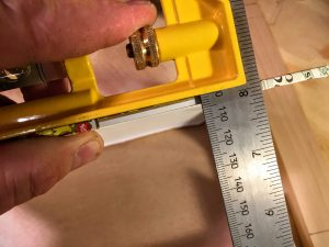 measure the thickness of the cigar box lid