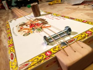 simple 3 string cigar box guitar