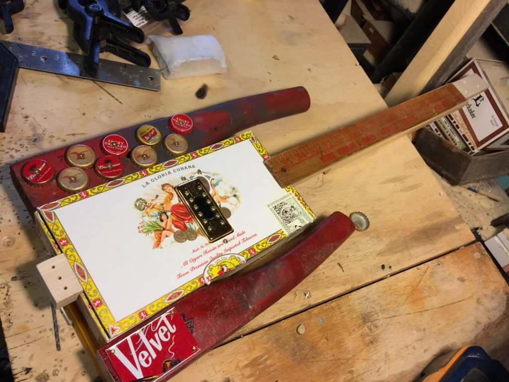 Electronics Pickups And Wiring The How To Repository For Humbucker Here Is A Quick Look At Humbuckers Work Cigar Box Guitar Building Tip Neck Reinforcement With