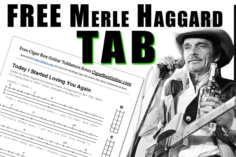 New Merle Haggard Tab Today I Started Loving You Again The How