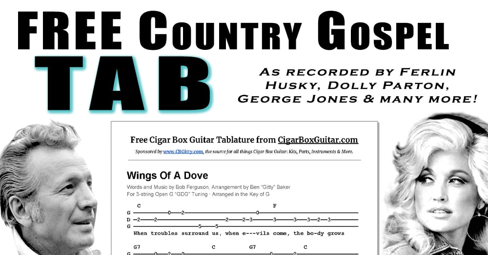 New Country Gospel Tab Wings Of A Dove As Performed By Ferlin