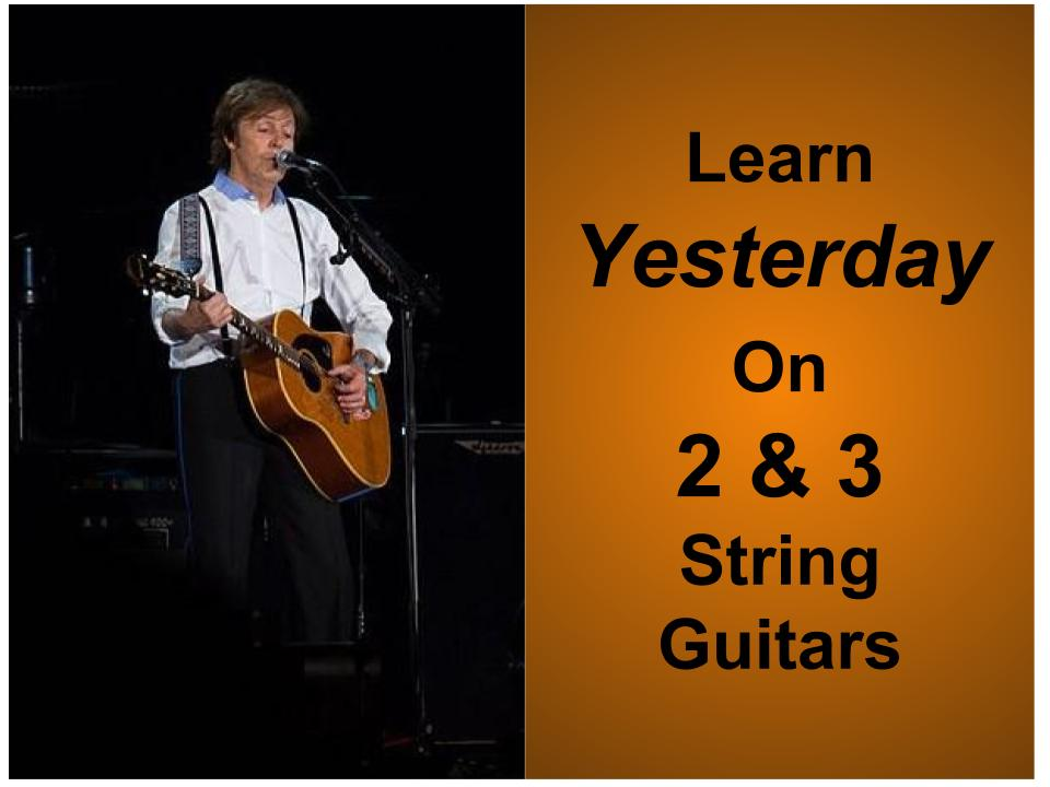 Free 2 3 String Tablature For Yesterday By The Beatles The How